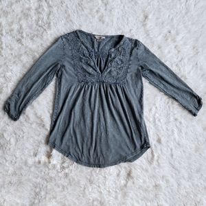 Lucky Brand women's small vintage style gray top